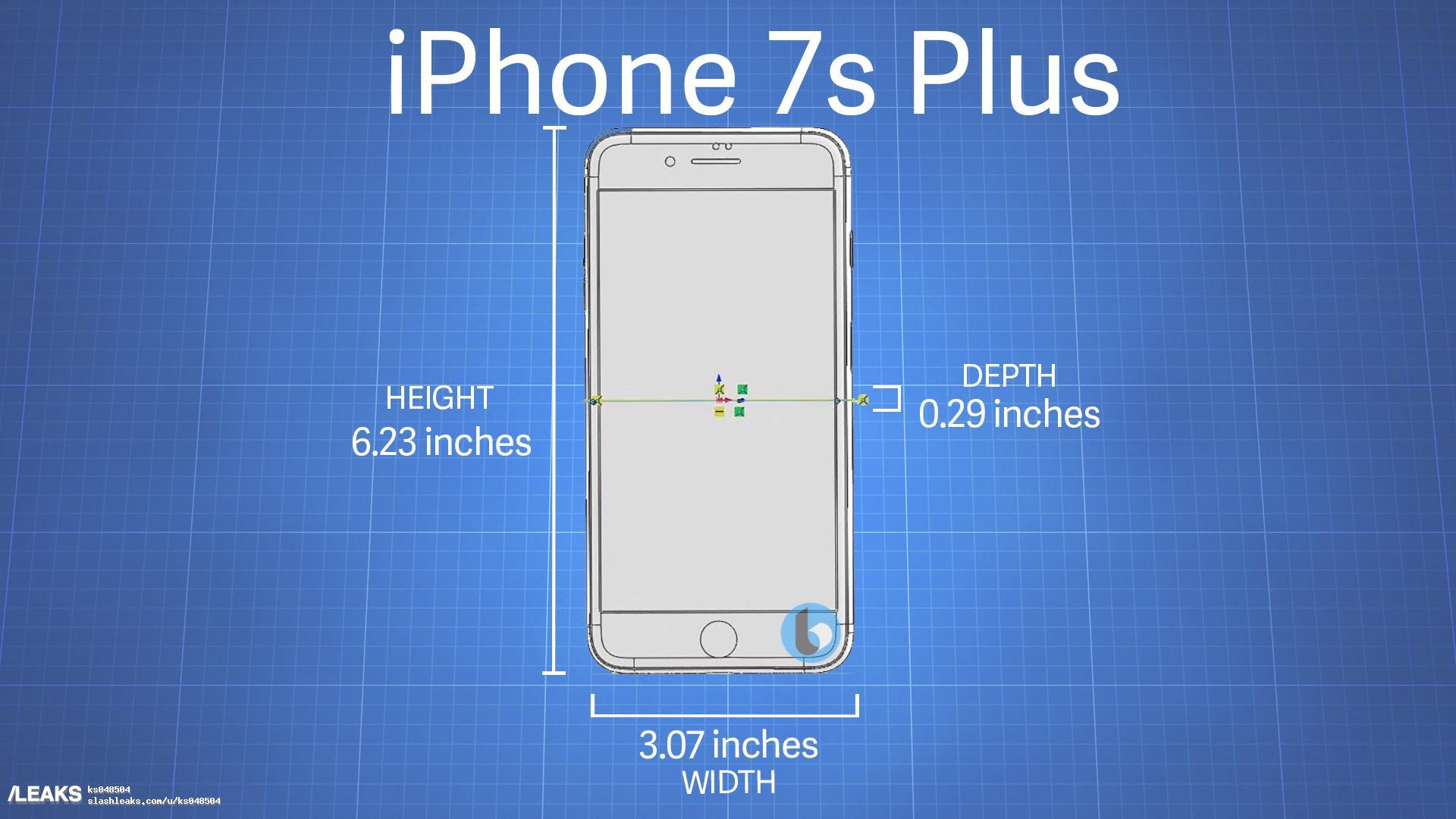 potential iphone 7s plus dimensions leak out. Black Bedroom Furniture Sets. Home Design Ideas