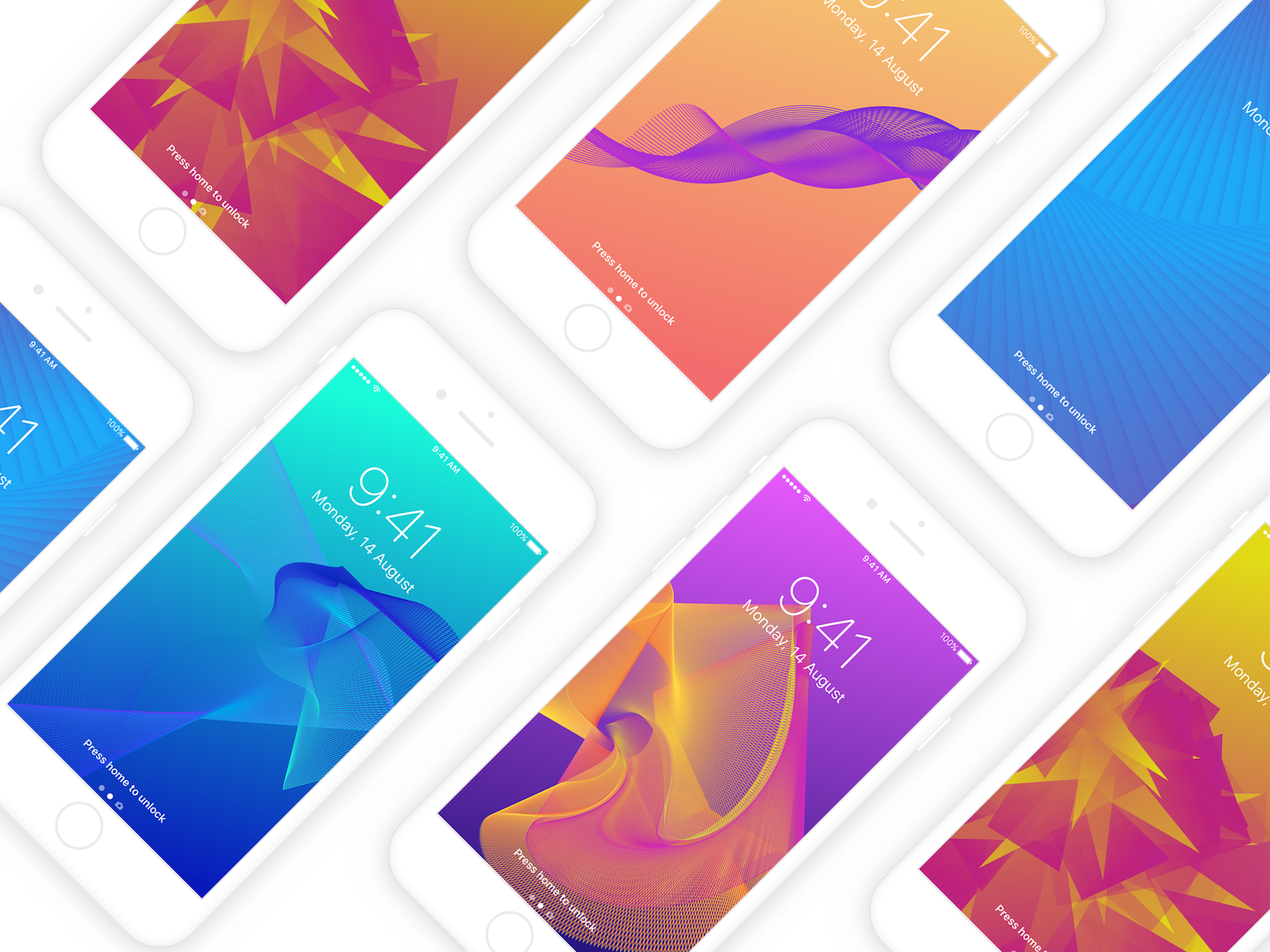 colorful geometric wallpaper on iphone