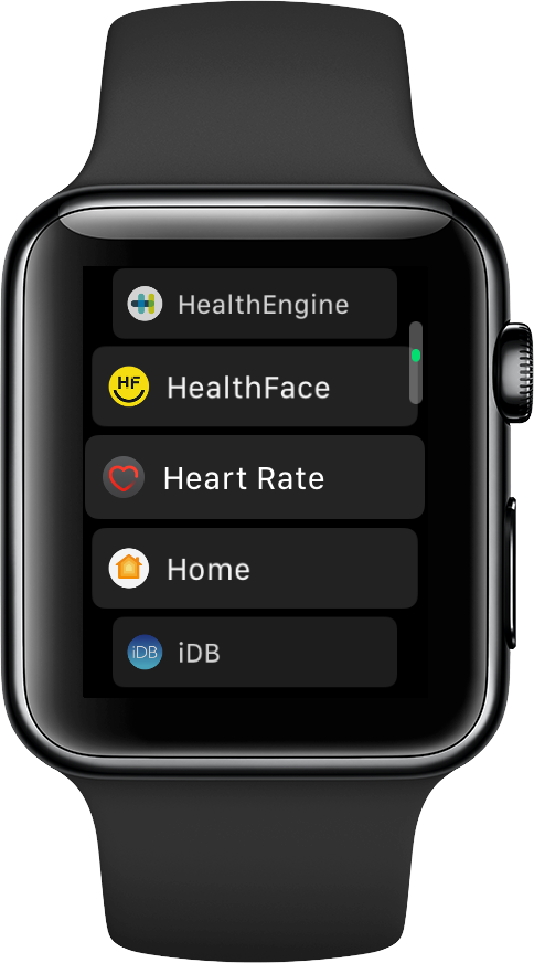 open Heart Rate app on Apple Watch