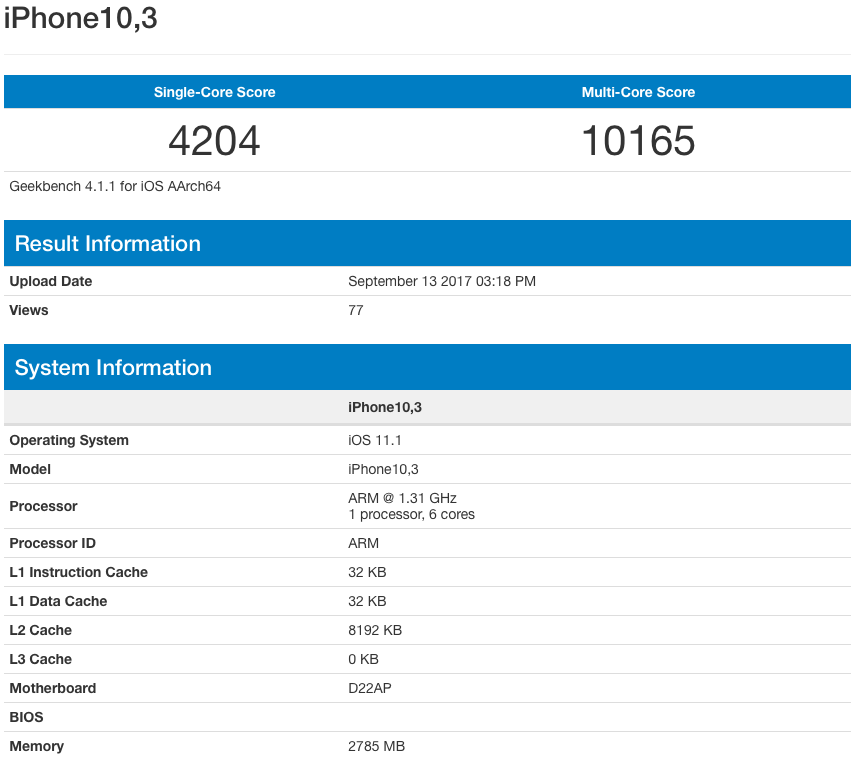 Geekbench: A11 Bionic smokes past Android rivals, beats iPad Pro, on