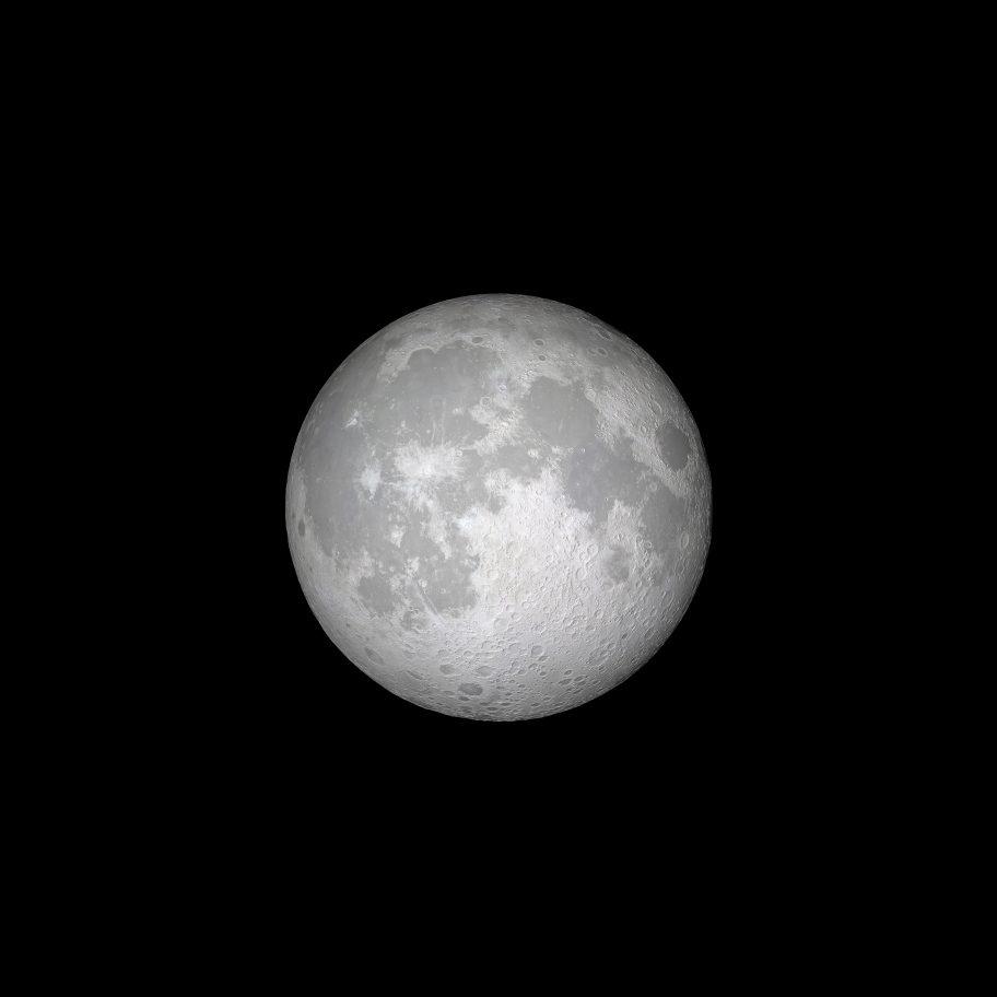 tapeta iOS 11 (księżyc na czarnym tle)