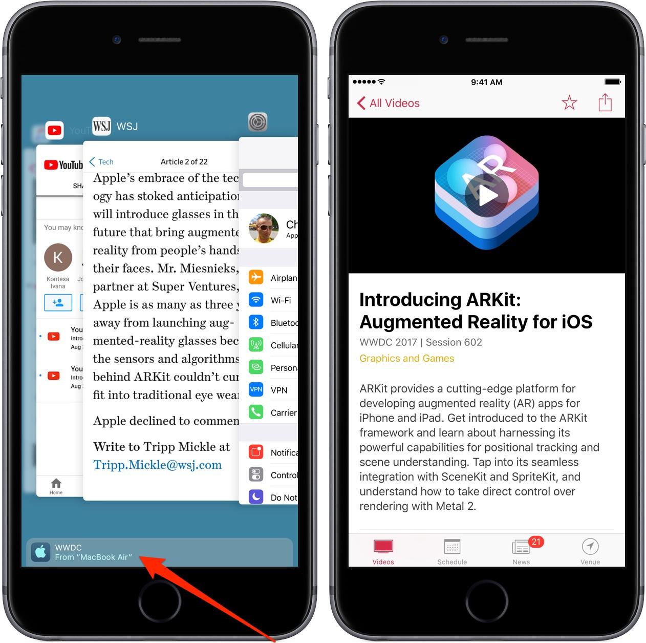 WWDC App Gains Handoff Support, Better Apple TV Navigation
