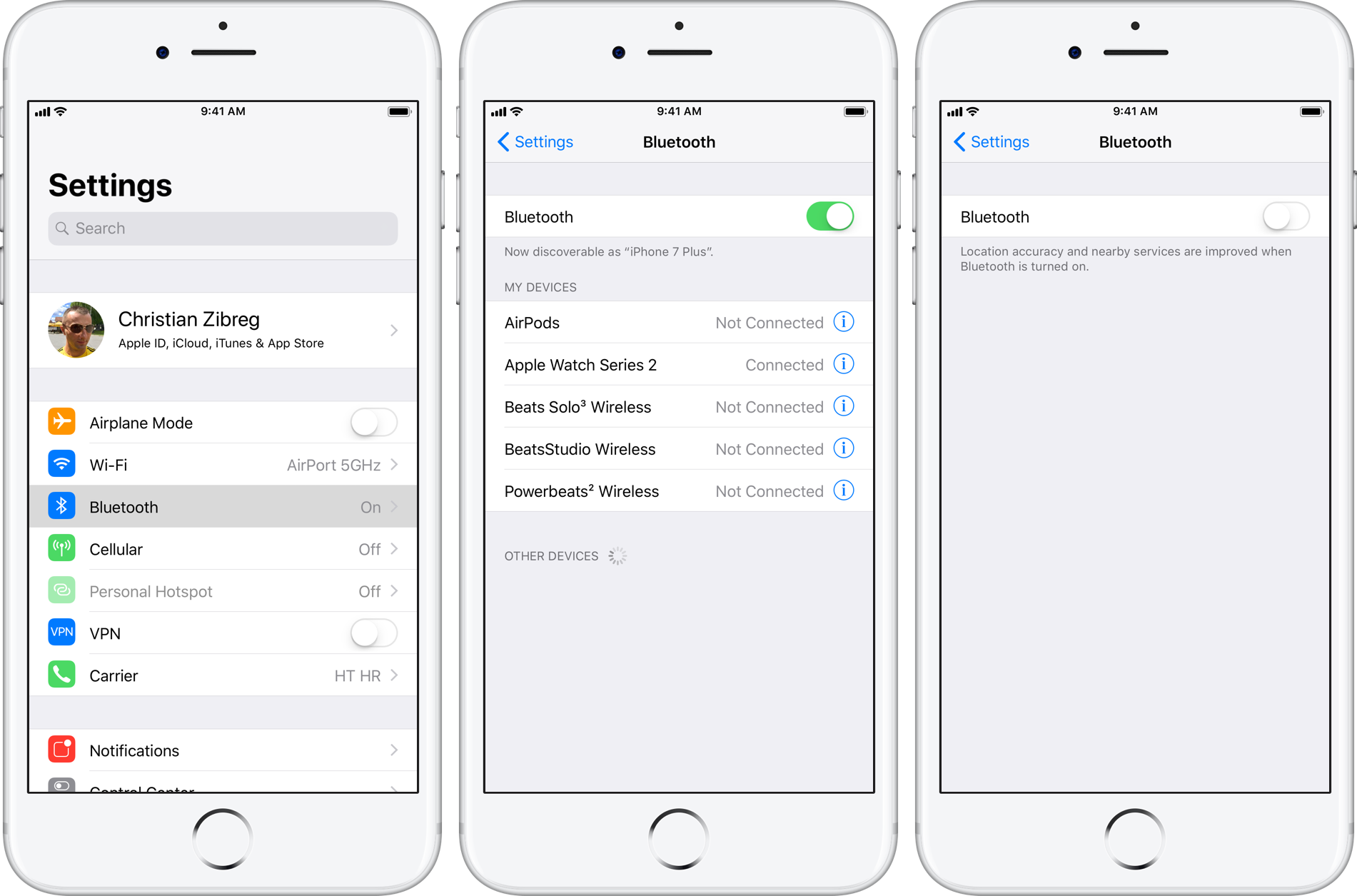 How To Fully Disable Wi Fi And Bluetooth In Ios 11 For All Networks And Devices