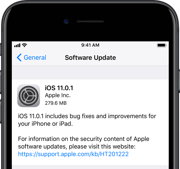 iphone 6 software update apple releases ios 11 0 1 with bug fixes amp unspecified 3003
