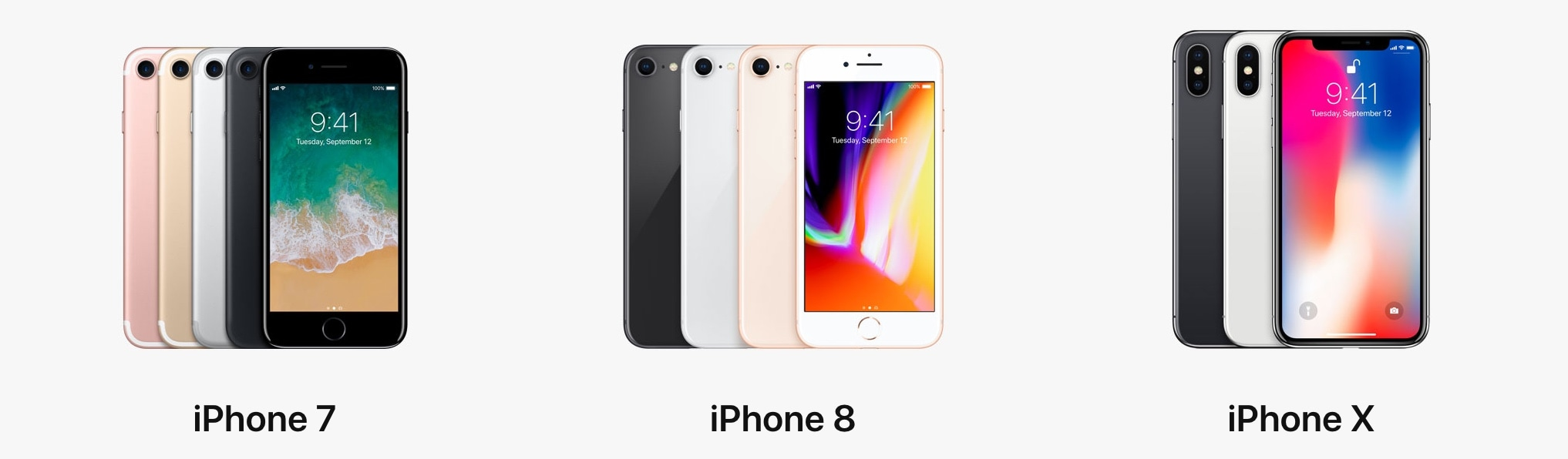 new product 1dbe5 7dd19 Weight, size, and battery life: iPhone X vs iPhone 8 vs iPhone 7