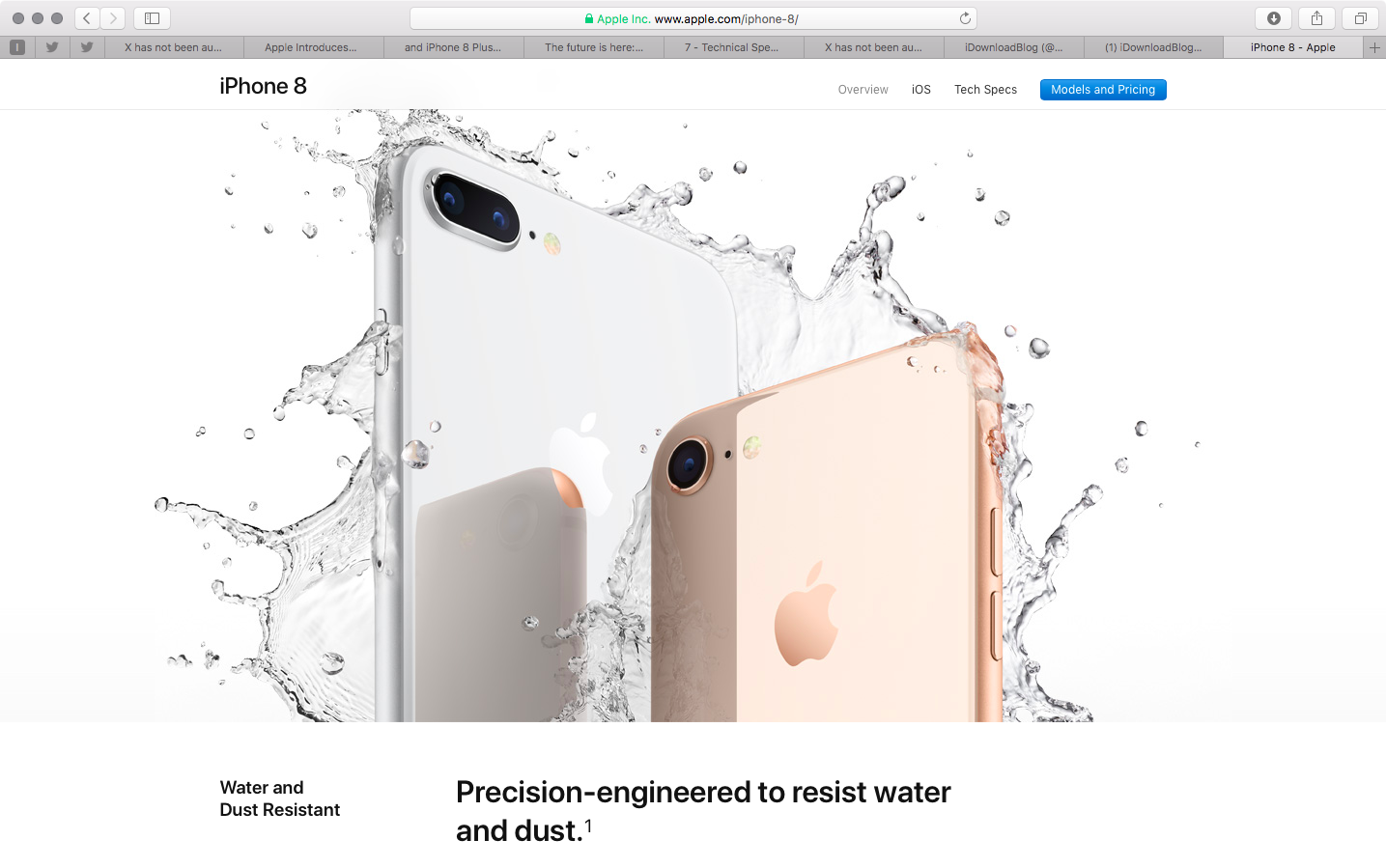new arrival d38c0 b44c1 iPhone X, iPhone 8 & Apple Watch Series 3 water/dust resistance has ...