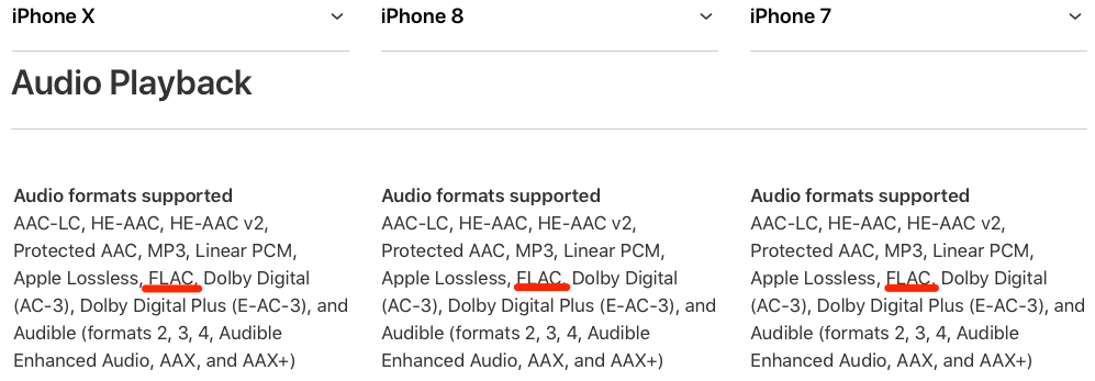 iPhone X & 8 support FLAC playback, iOS 11 brings it to iPhone 7