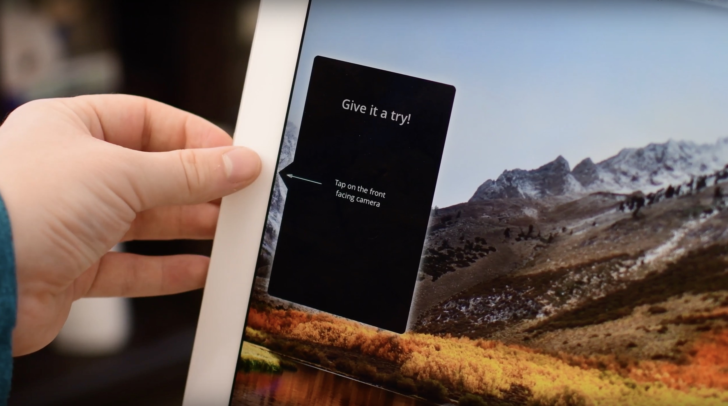 "Luna Display uses iPad camera as a ""button"""