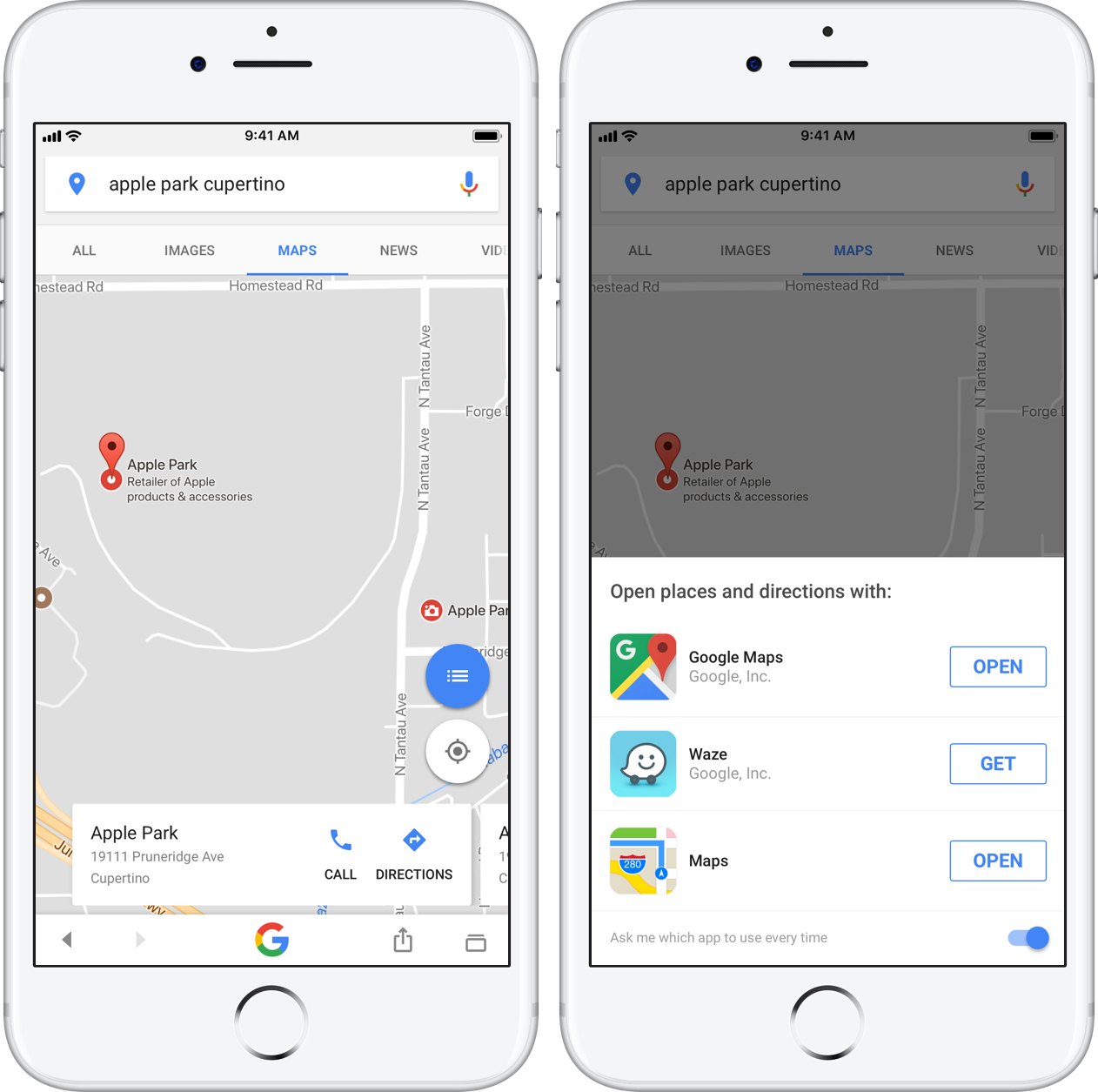 Google app gains drag and drop on iPad, directions with Apple Maps on