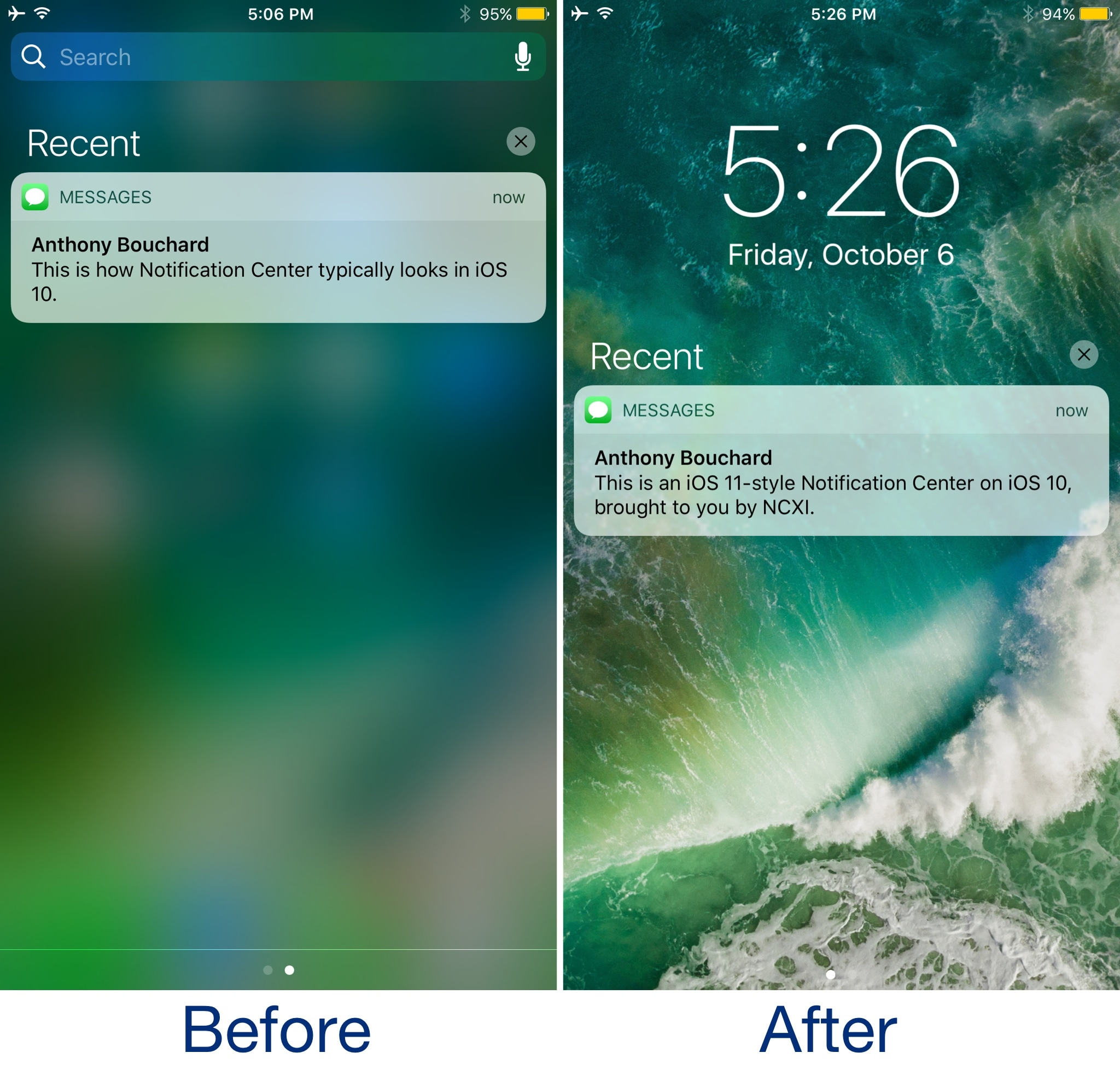 Mimic the iOS 11 experience on your jailbroken device with these tweaks