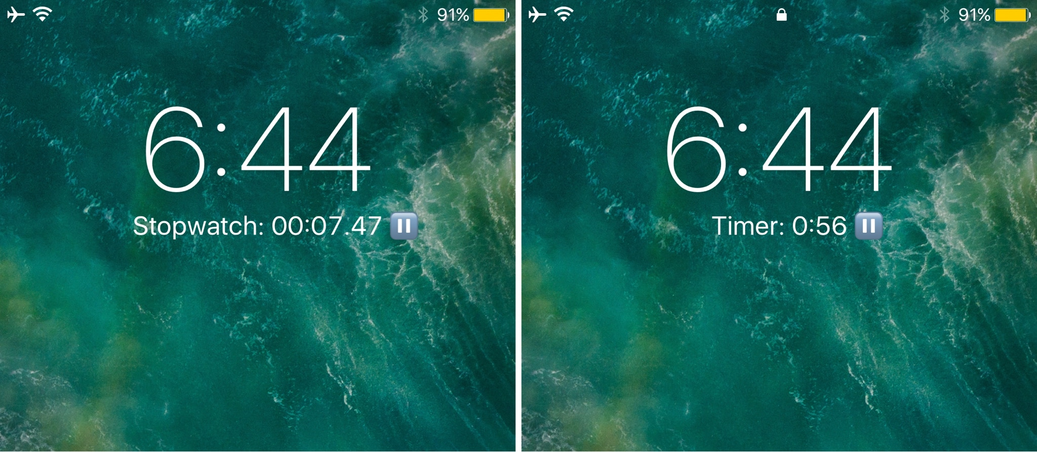 This tweak makes it easier to access a stopwatch or timer