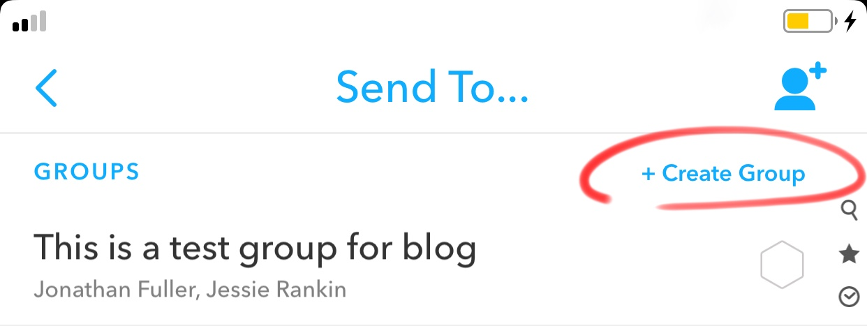 how to make a group on snapchat
