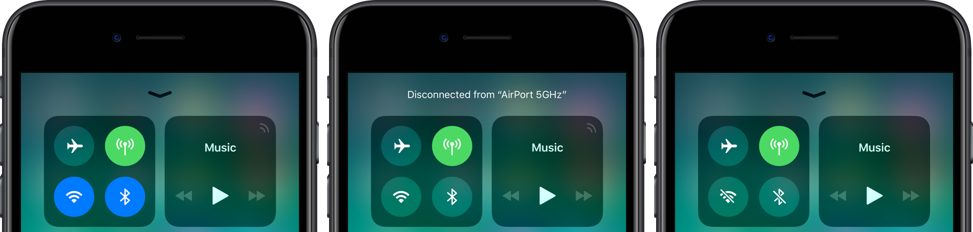 Ios 11 2 Makes It Clearer How Control Center S Wi Fi And Bluetooth Toggles Work