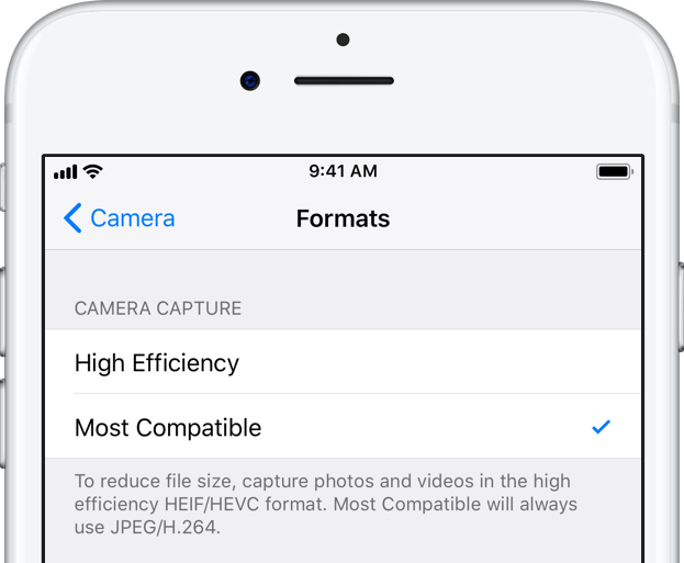How to export your shot on iPhone HEIF images as JPEGs using