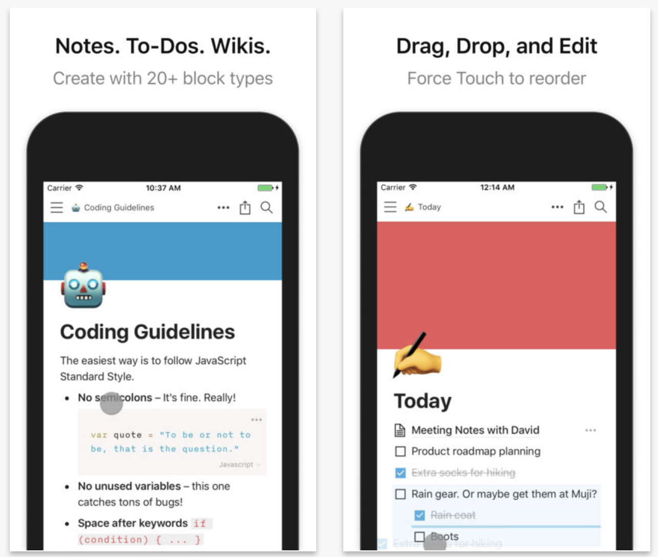 Notion, The Packing List, Bobby, and other apps to check out this
