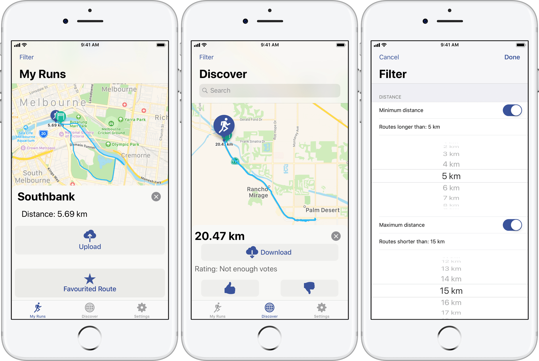 runners map lets you easily share and discover running routes