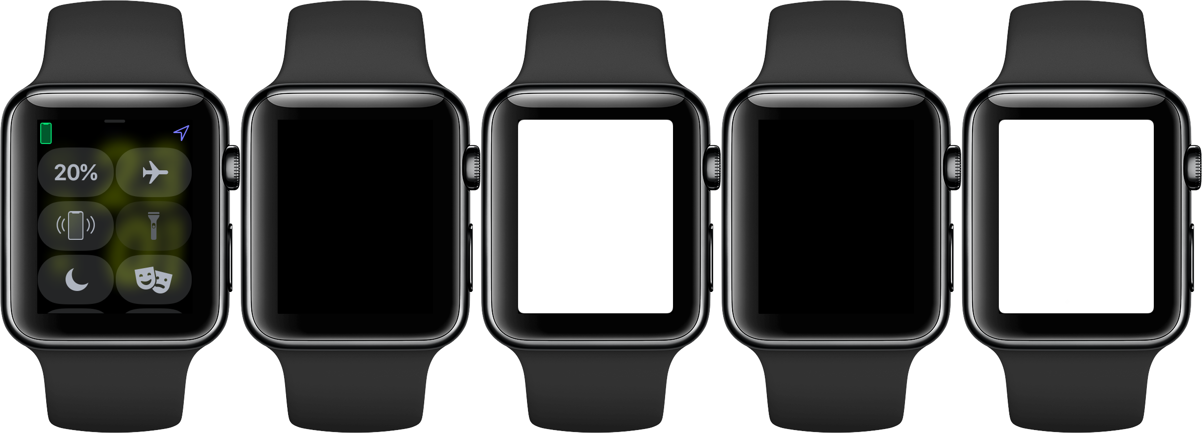 Cambio entre los modos de linterna de Apple Watch