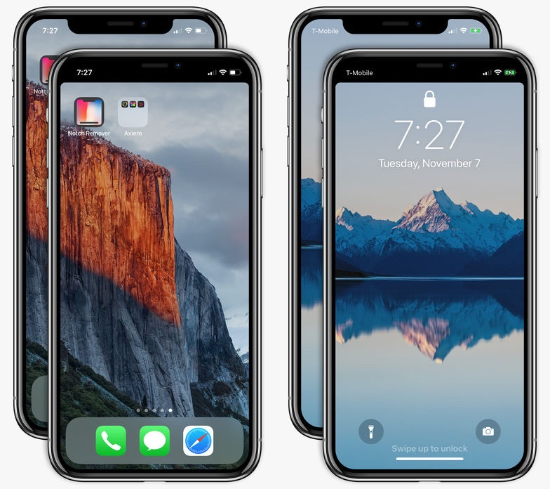 Home Wallpaper Iphone: How To Hide IPhone X's Notch On The Lock And Home Screen