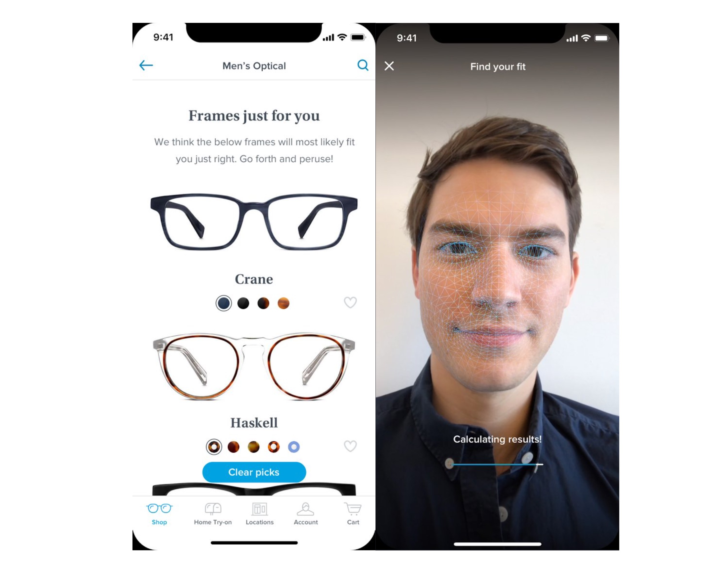 a4fa3f073644 Warby Parker is using iPhone X camera to measure your face & recommend  glasses