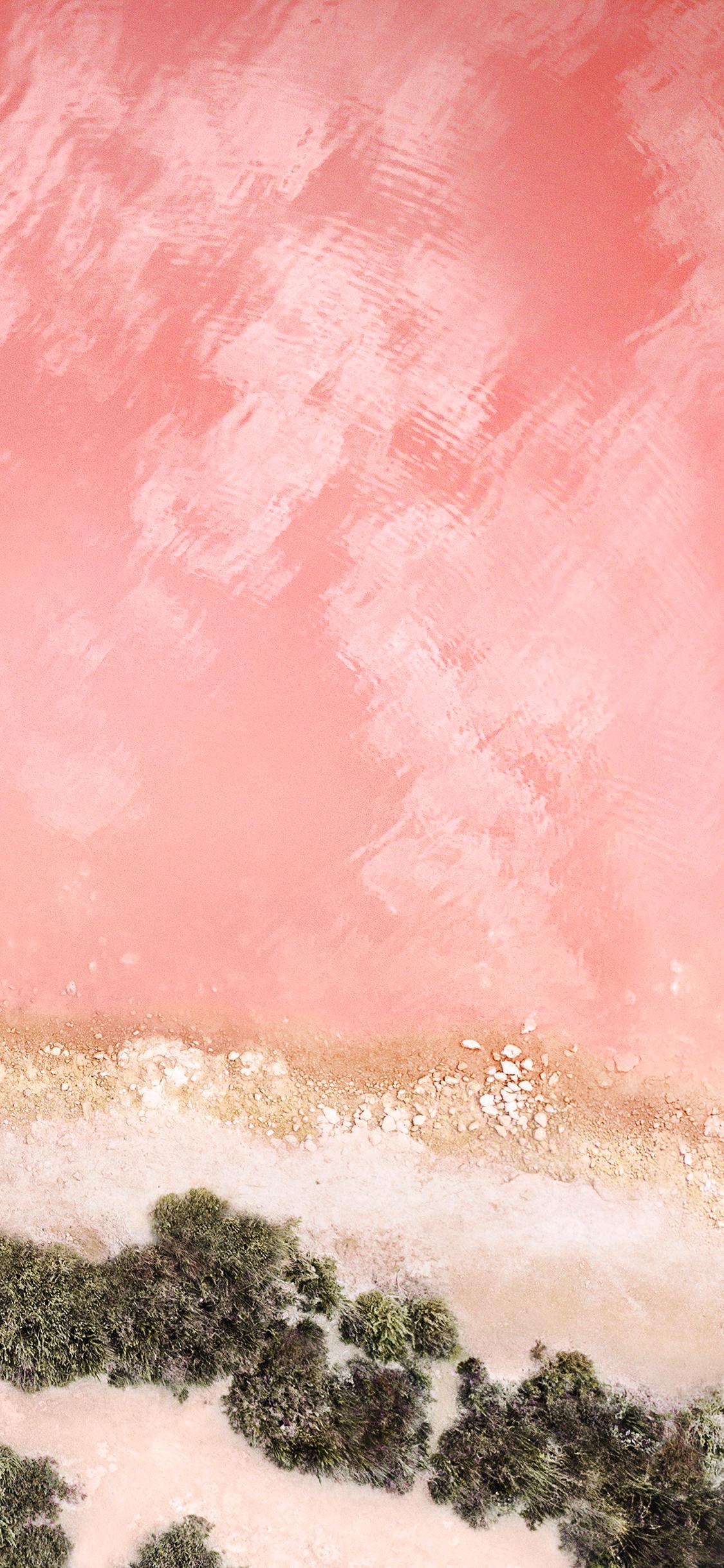 Pink beach original Apple wallpaper