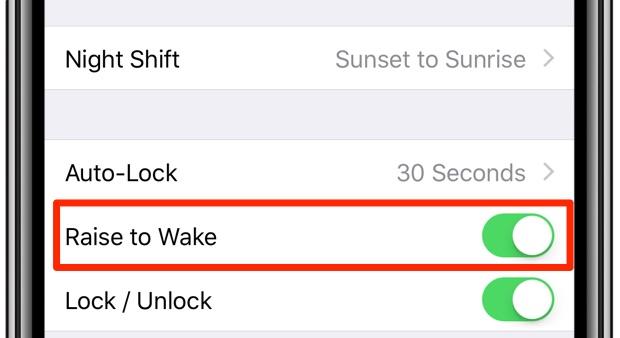 raise to wake iphone x
