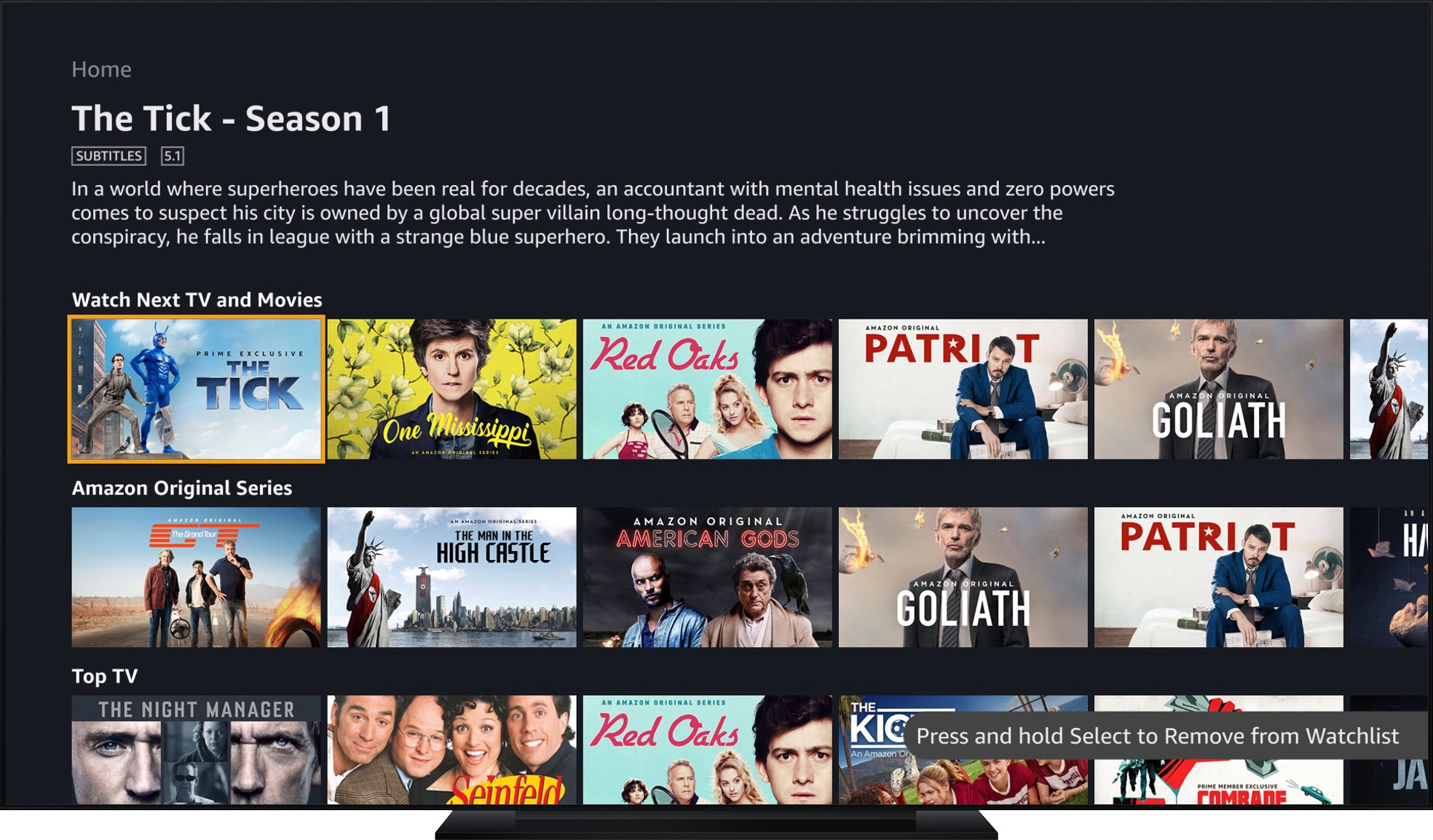 Amazon Prime Video for Apple TV launches on tvOS App Store