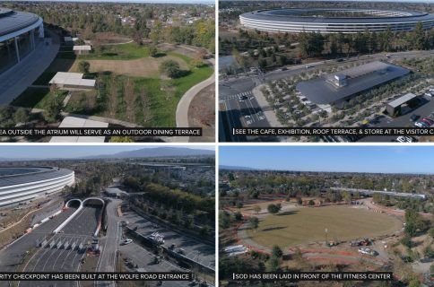 Drone footage shows off nearly completed Apple Park, visitor center