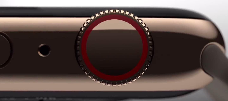 Apple Watch Series 4 Digital Crown closeup