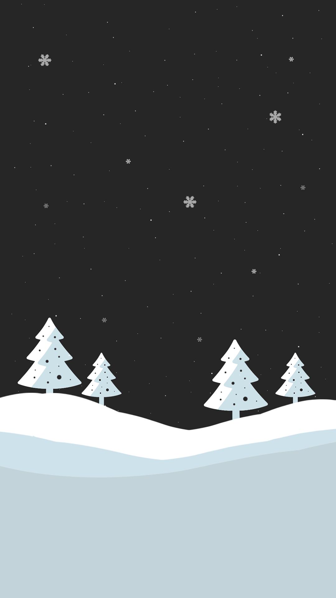 クリスマス 冬 のシンプルなiphone用壁紙 9枚 噂のapple