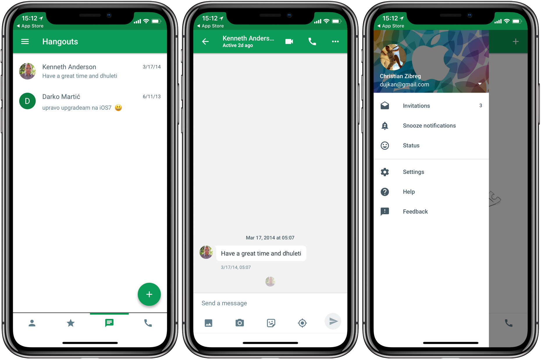 google hangout iphone hangouts has been optimized for iphone x 10727