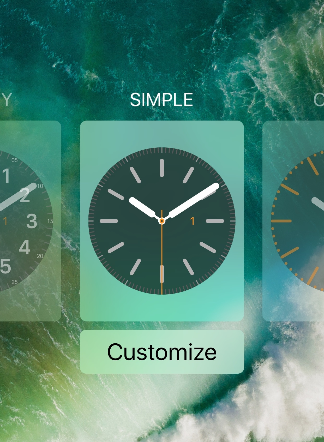 LockWatch adds Apple Watch-inspired clocks to your iPhone's