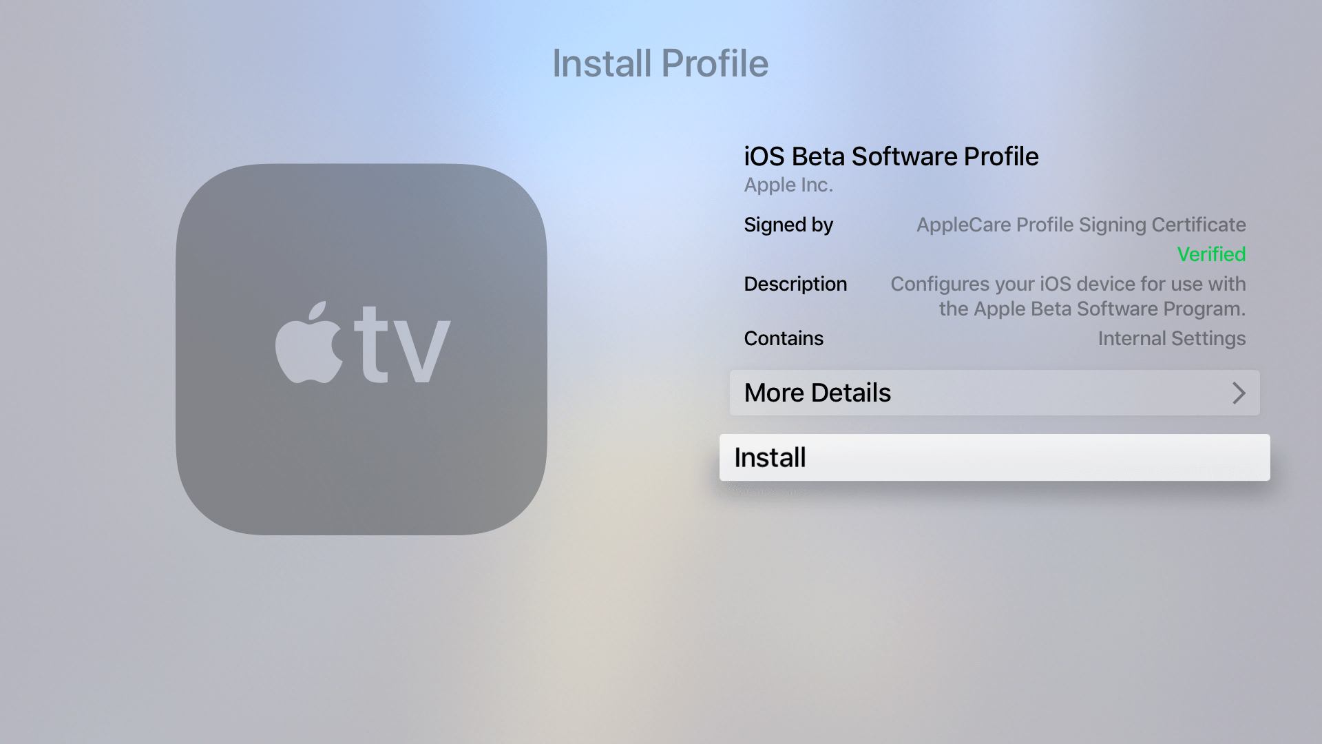 how to turn on apple tv 4