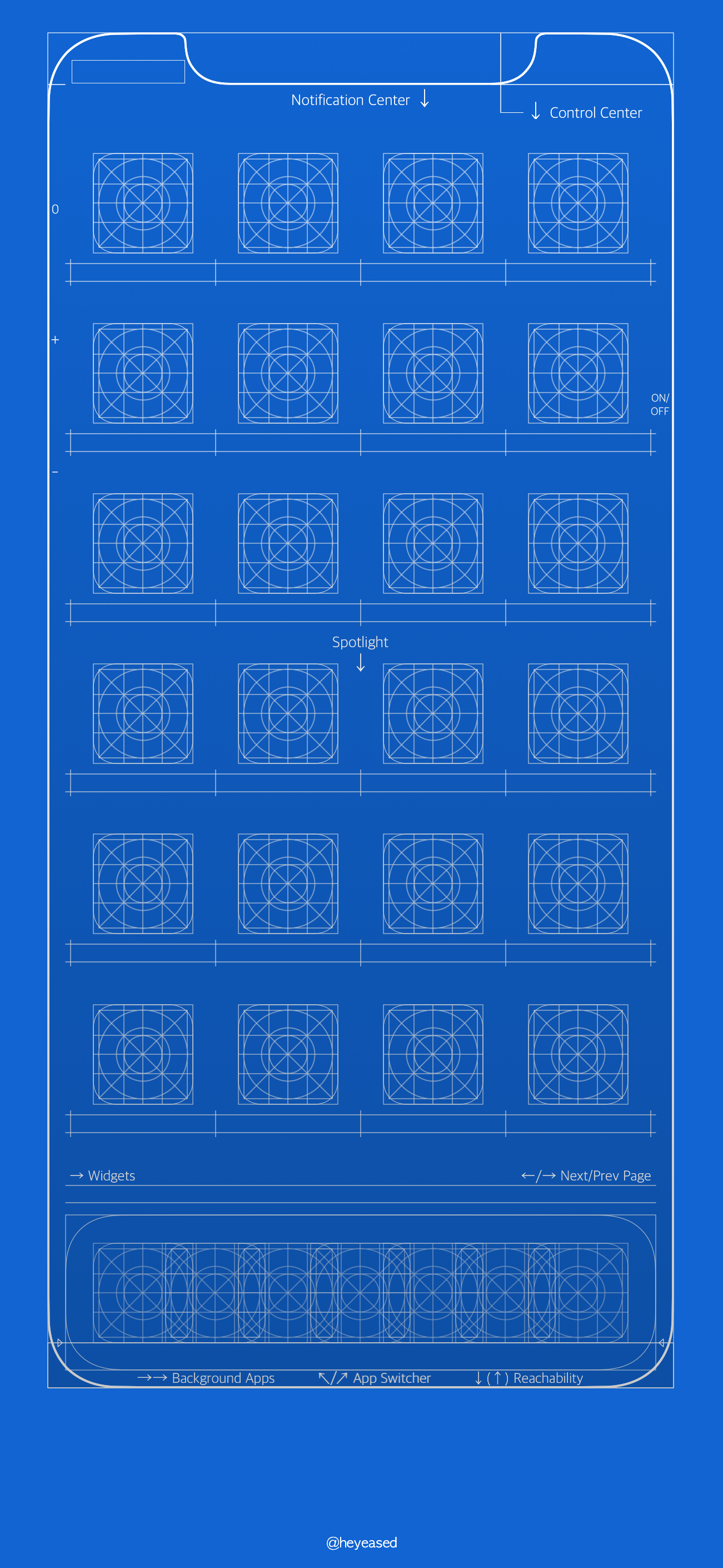 iPhone X blueprint wallpapers