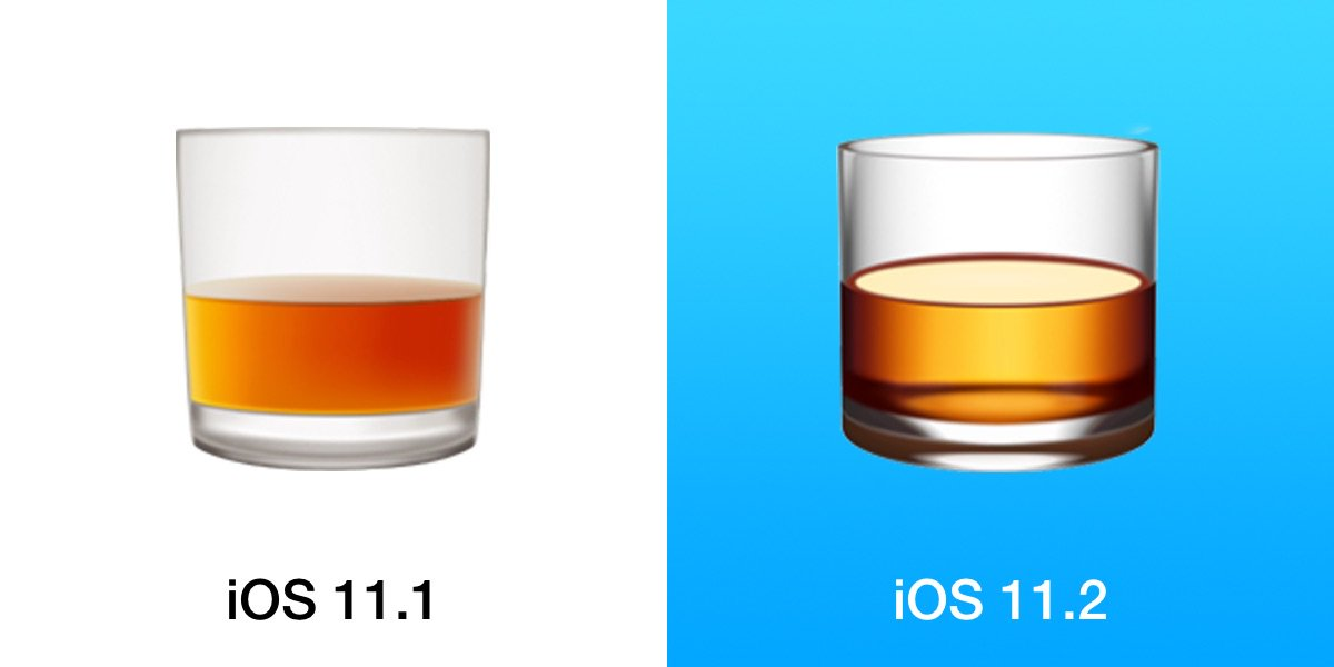iOS 11 2 has changed a number of emojis