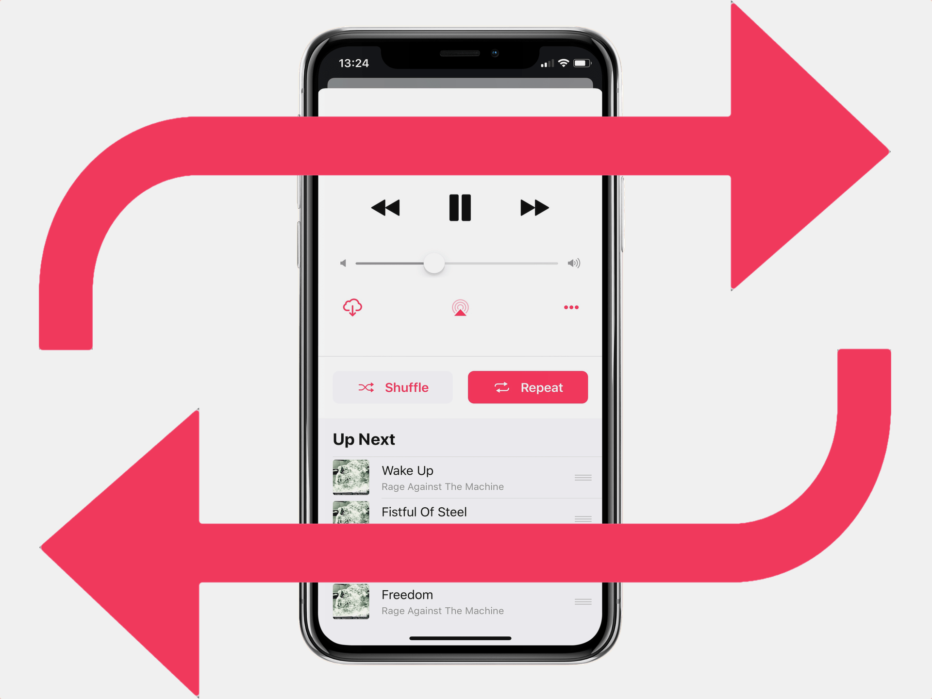How to repeat songs, albums, and playlists in Apple Music app