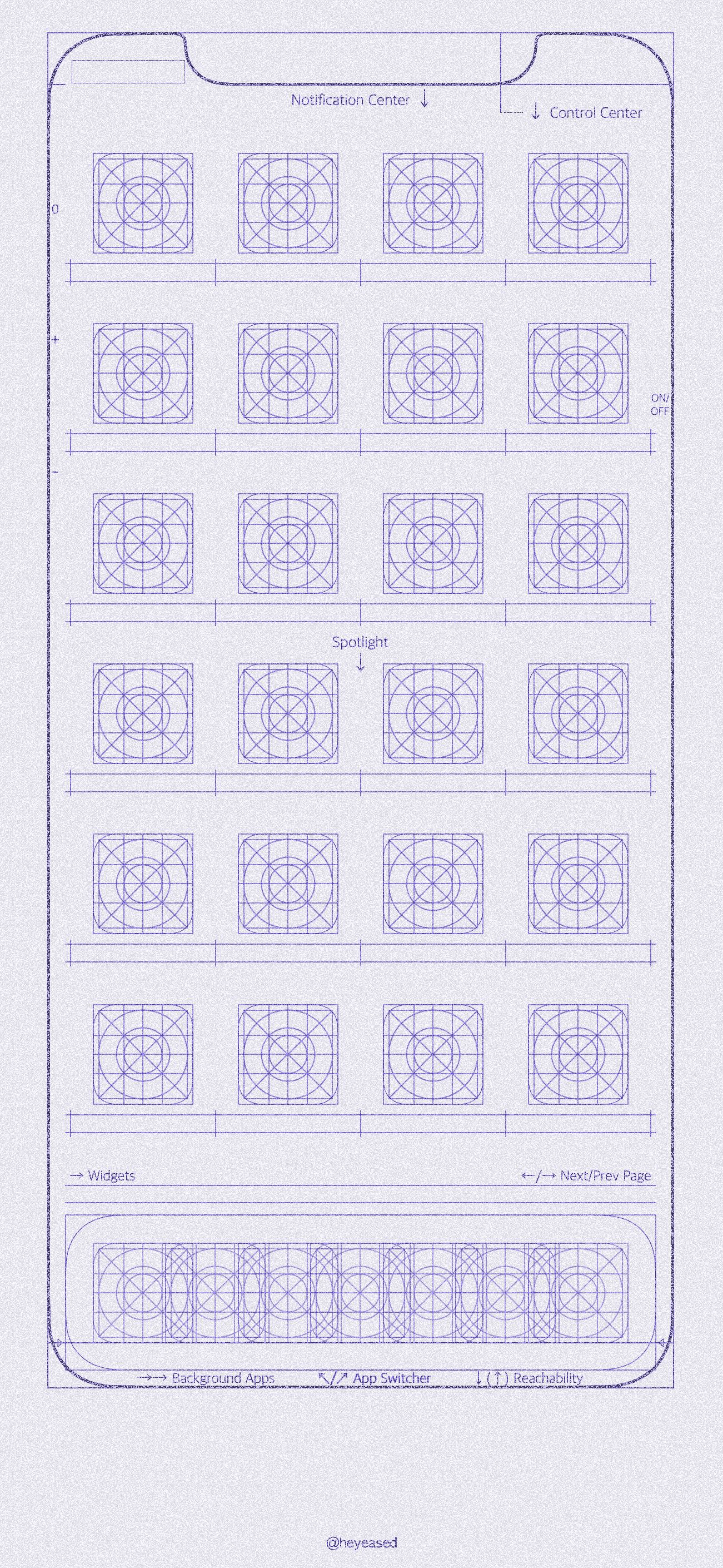 Grid And Blueprint Wallpapers For Iphone 5 Block Diagram Download Purple Home Screen