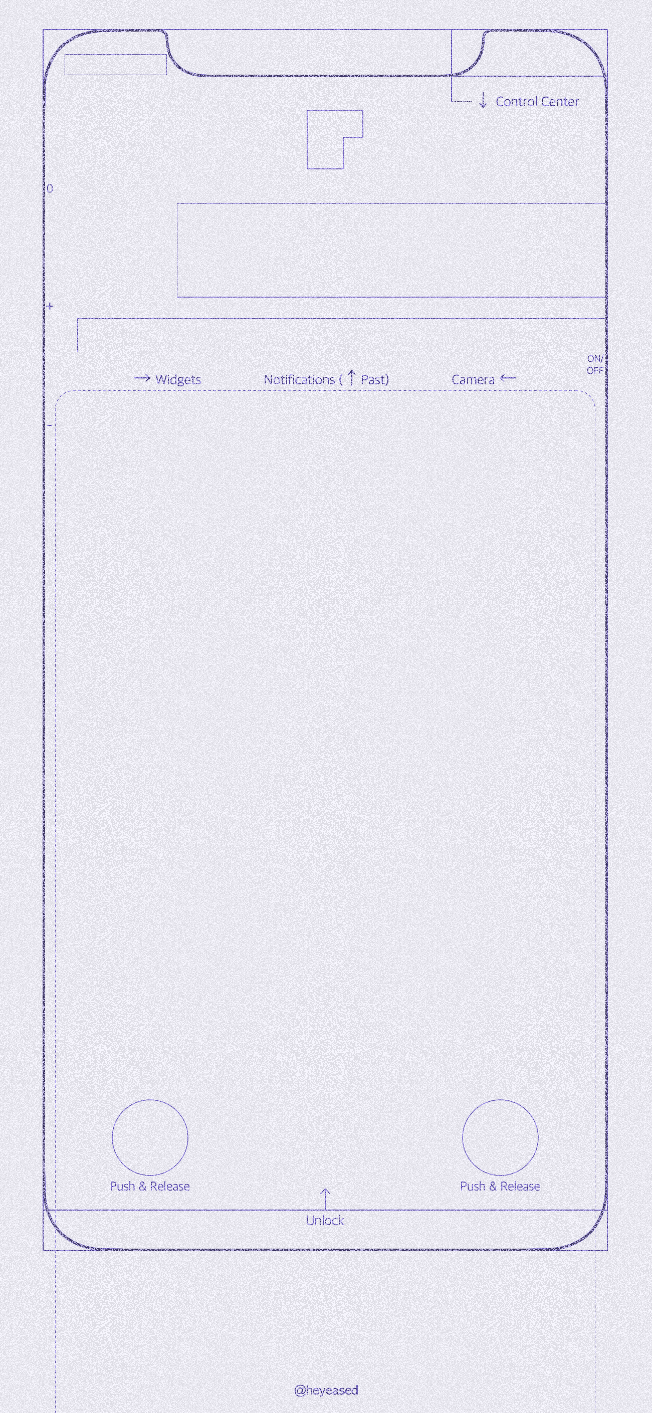 Download: purple blueprint Lock screen