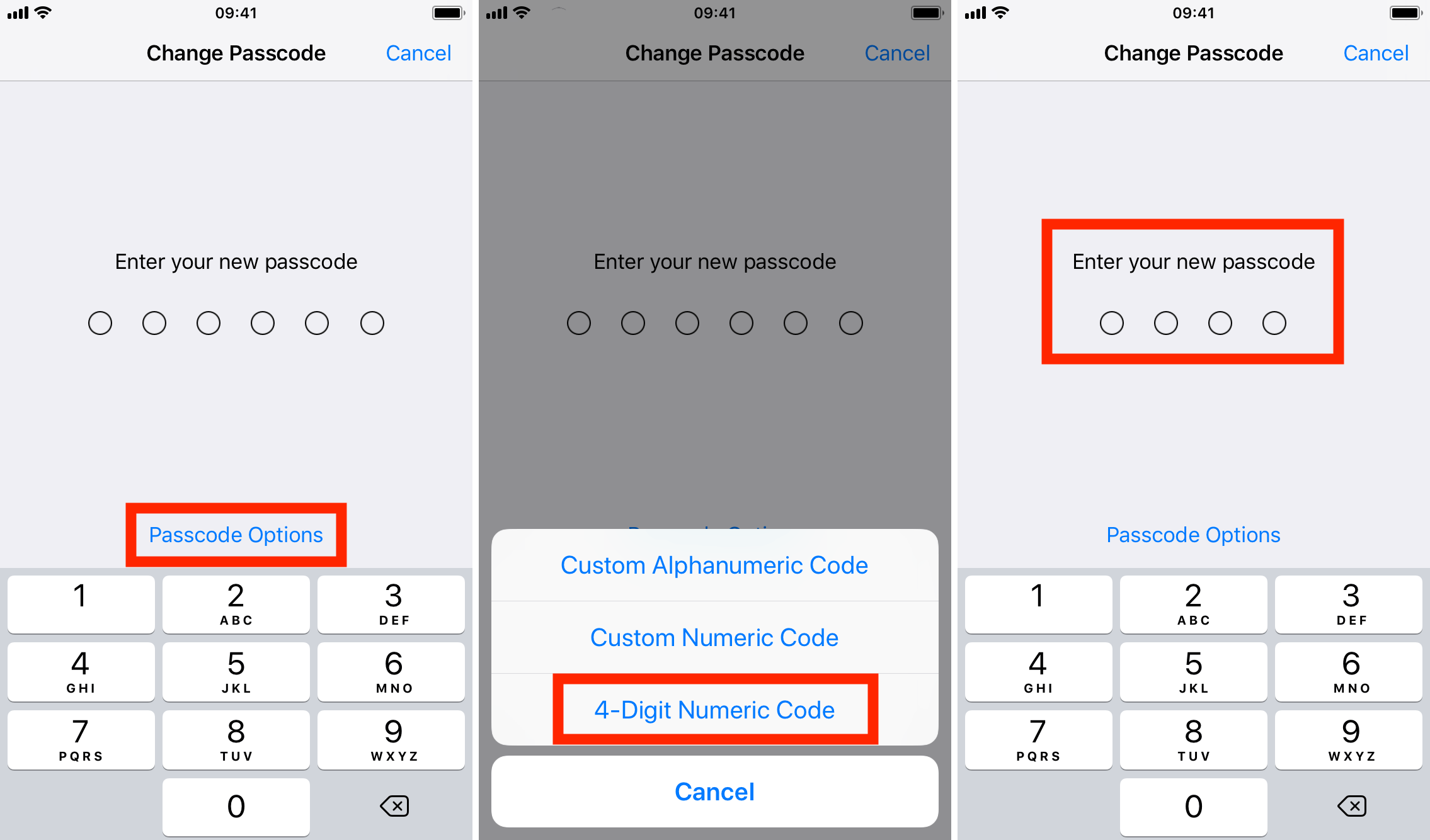 iphone made me change passcode how to change your iphone or passcode back to 4 digits 17669