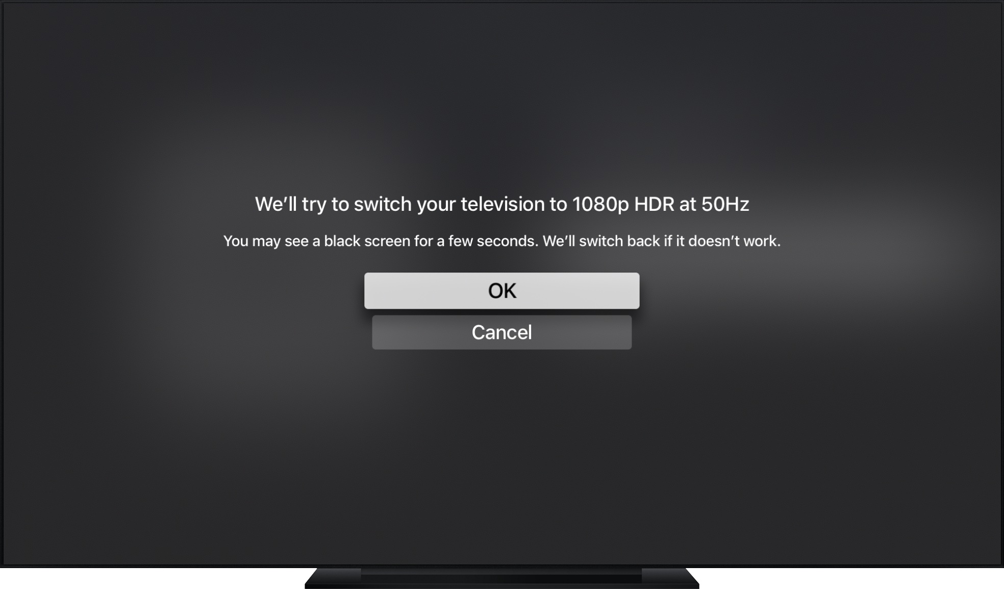 formato de video de apple tv