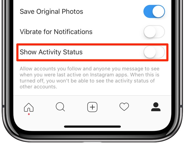 How to prevent Instagram from broadcasting your online