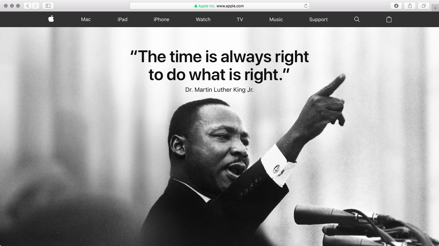 Apple Commemorates Martin Luther King Jr Day By Devoting Its