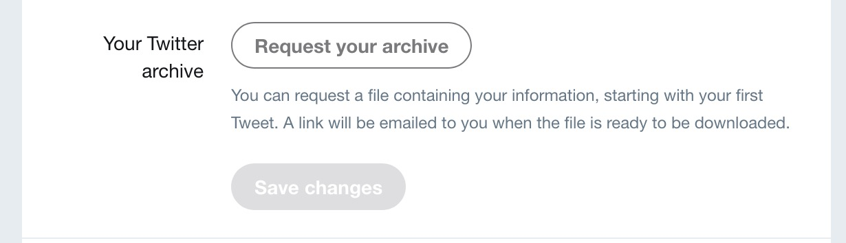 Request your Twitter archive