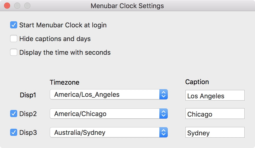 Set other clocks in menu bar on Mac
