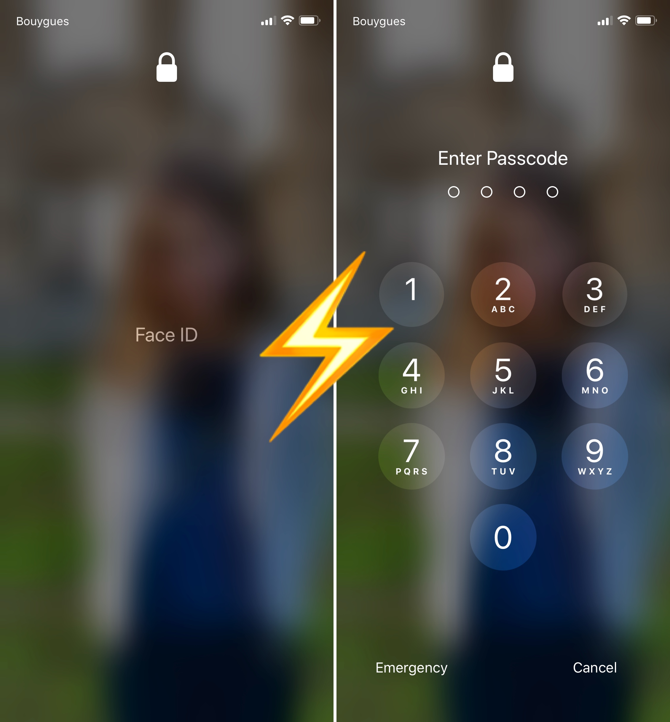 how to quickly show the passcode keypad on iphone x