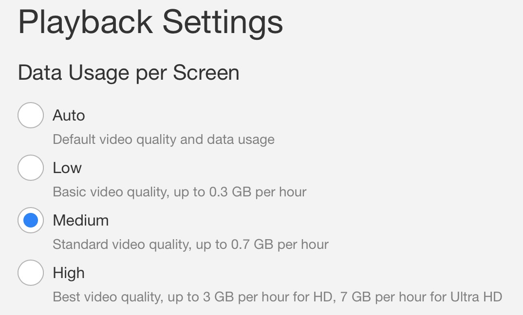 reduce Netflix data usage