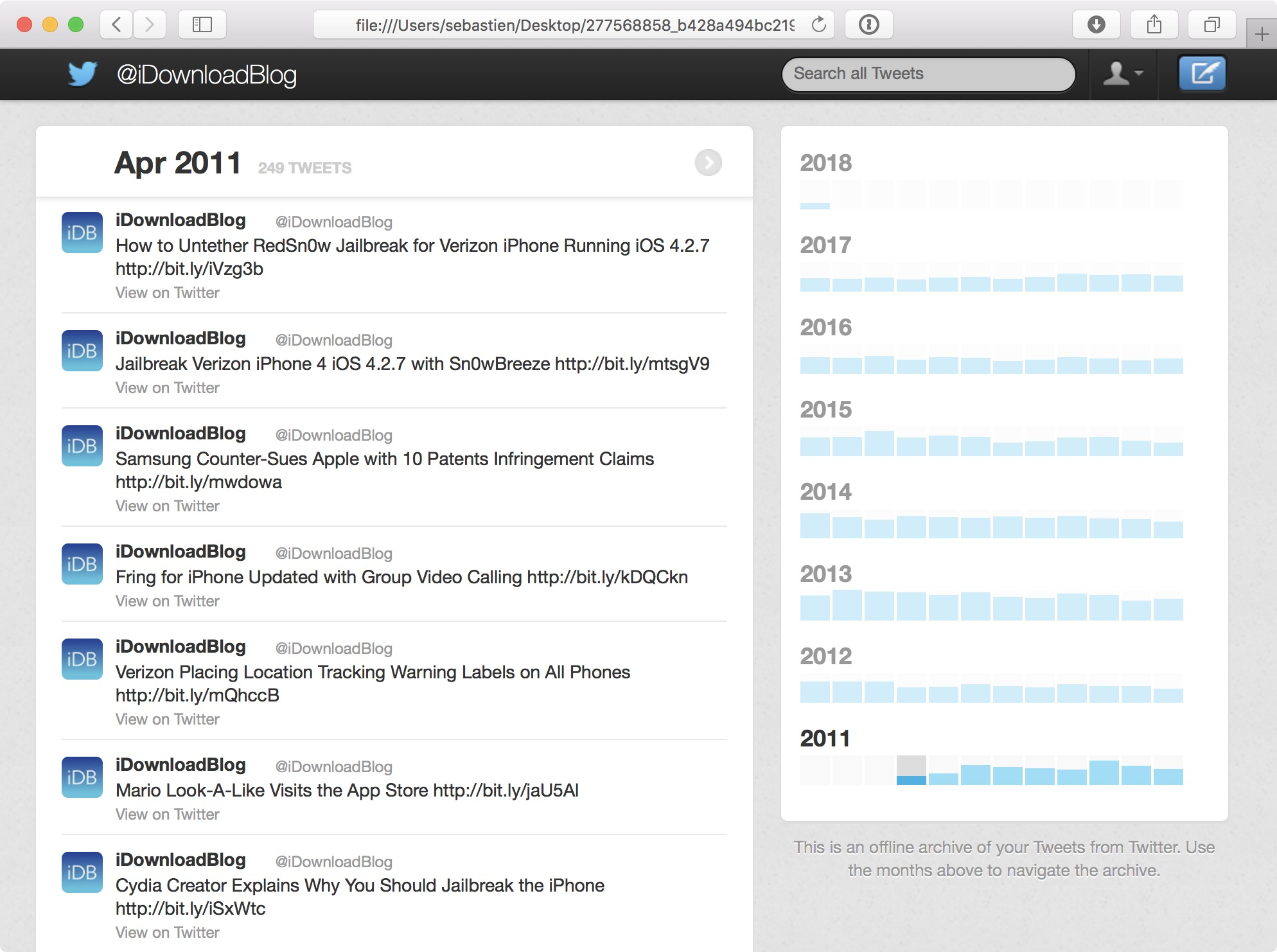 How to download and view your entire Twitter history