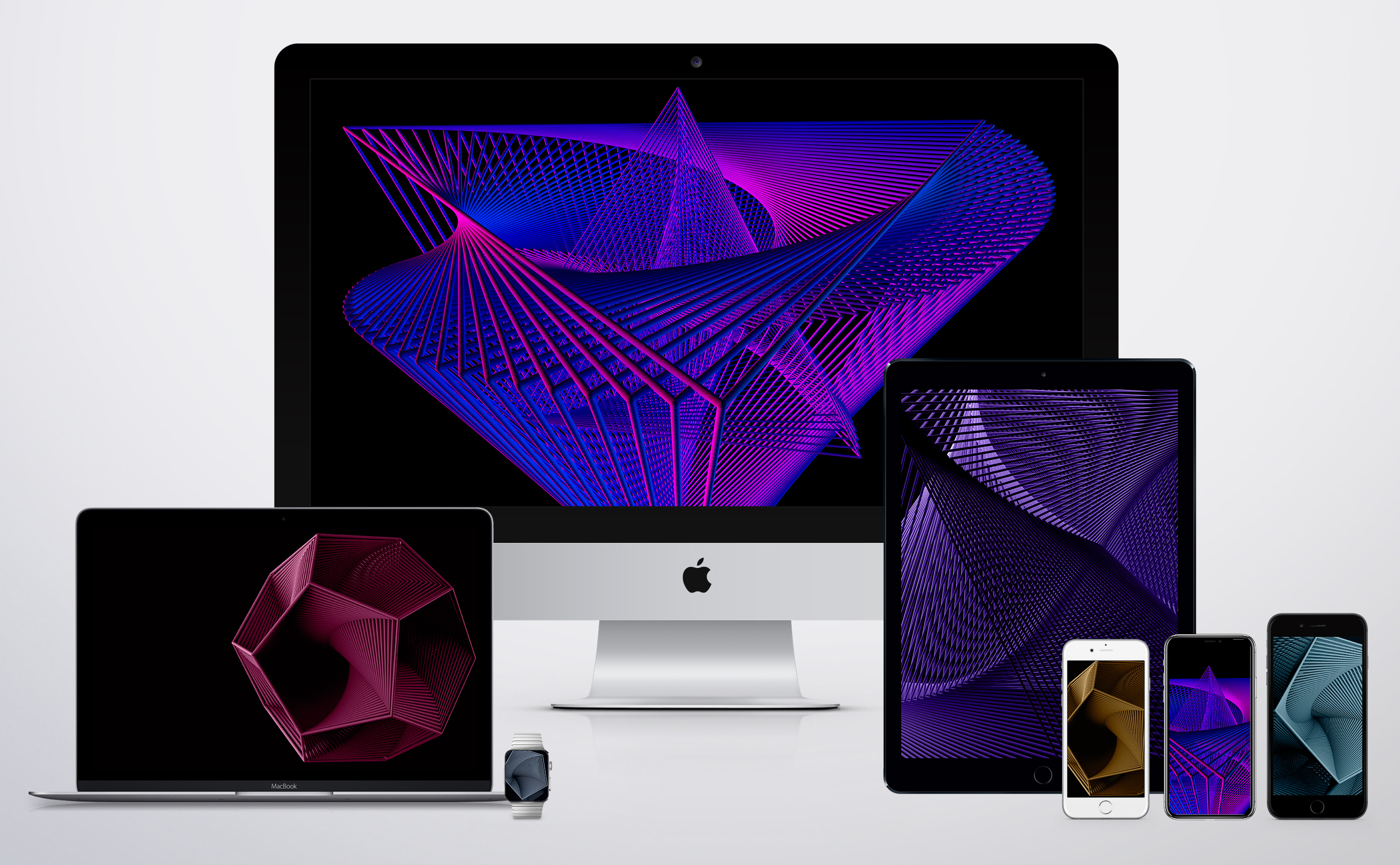 3D geometric wallpapers