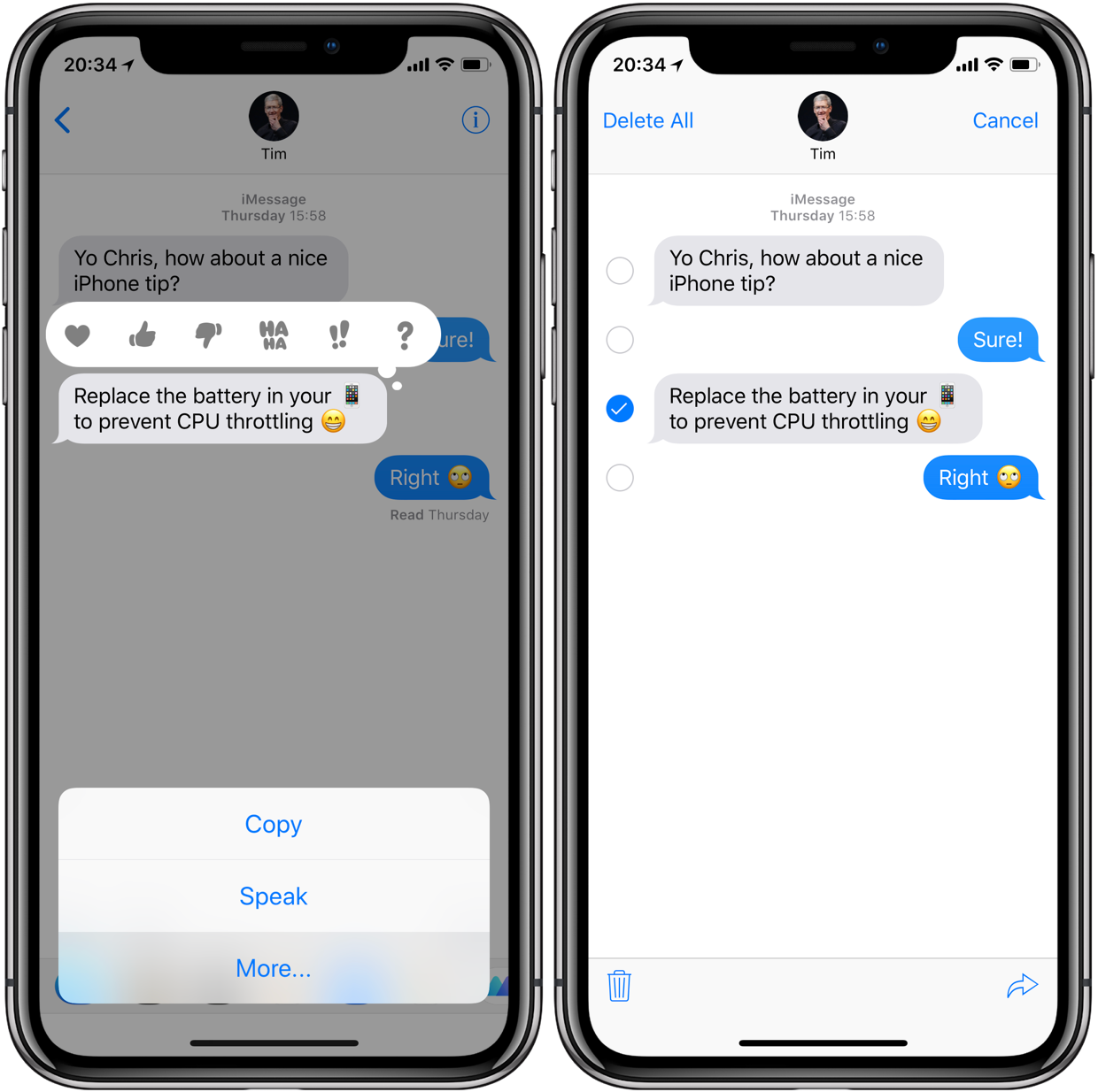 copy text messages from iphone
