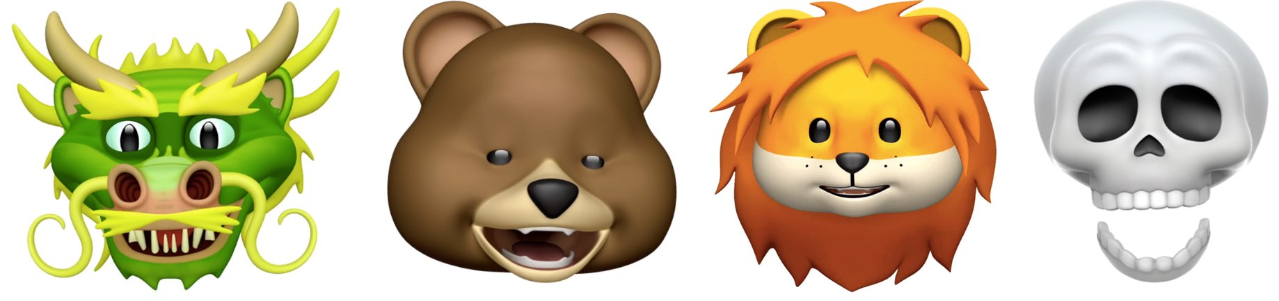 Video: 4 new Animoji characters in iOS 11 3—lion, dragon
