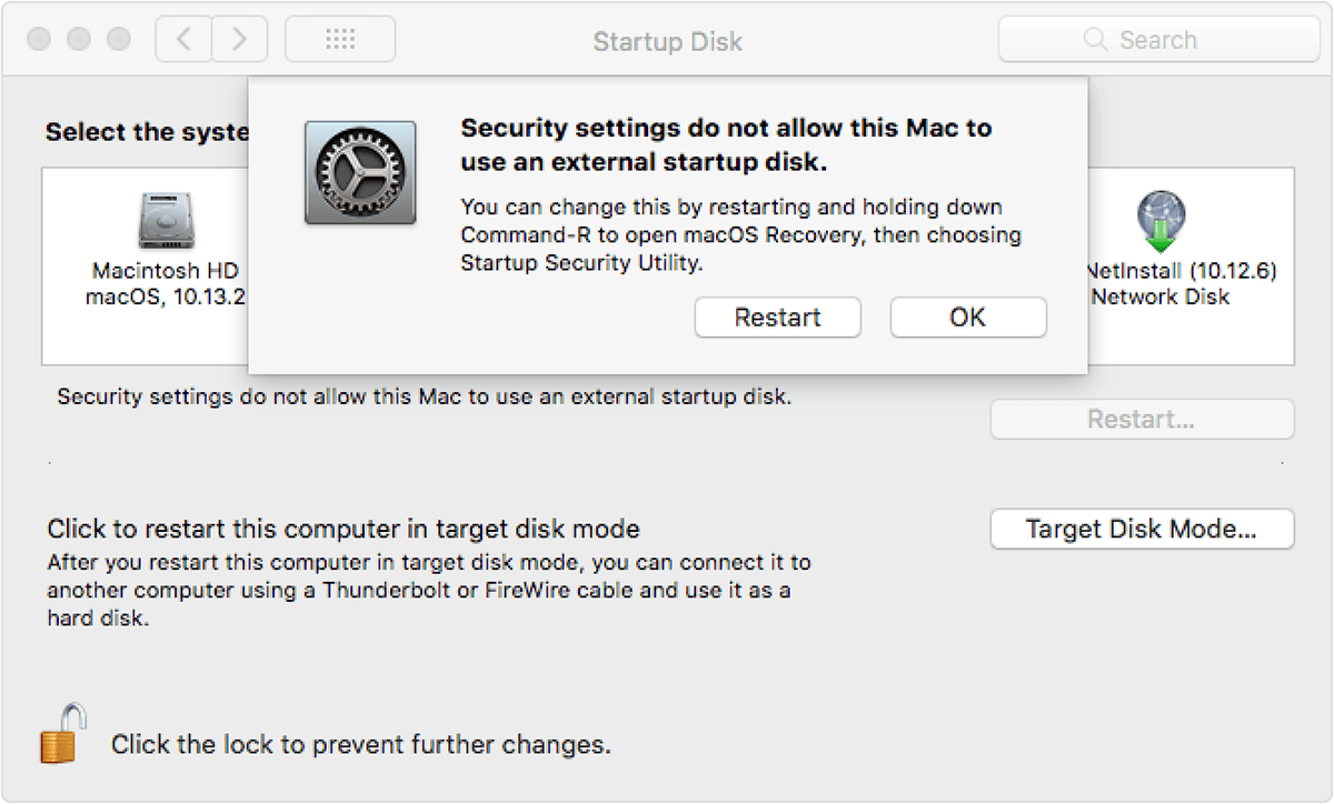 How to adjust your iMac Pro's startup security level with